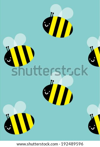seamless bee background vector/illustration