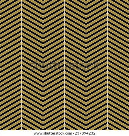 seamless black and gold chevron pattern. each color in separate layer.