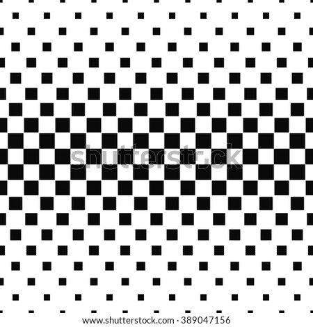 Seamless black and white abstract square pattern background - stock vector