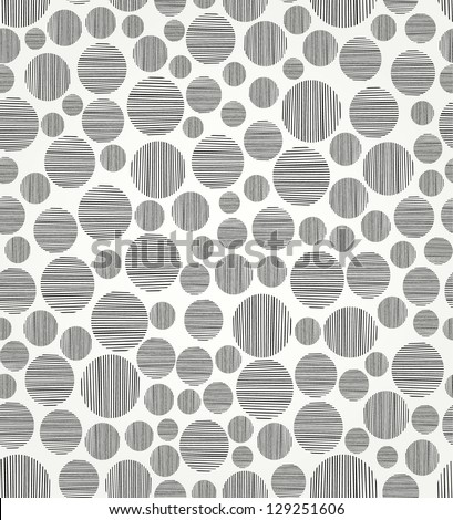 Seamless black and white circle pattern. Endless linear decorative pattern. Template for design - stock vector