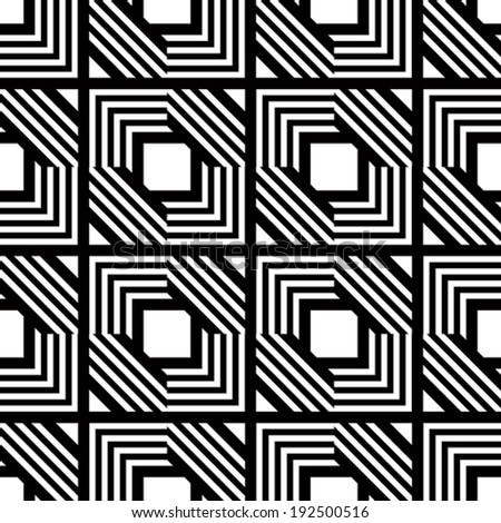 Seamless black and white geometric pattern, simple vector stripes background, accurate, editable and useful background for design or wallpaper. - stock vector