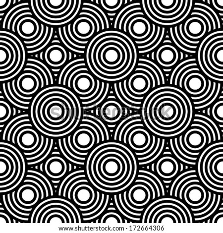 Seamless black and white geometric vector background, simple stripes vector pattern, accurate, editable and useful background for design or wallpaper. - stock vector