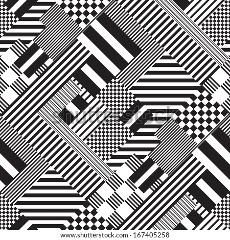 Graphic design art black and white  Seamless Black White Lines Pattern Abstract Stock-Vektorgrafik ...