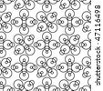 Seamless black and white ornament pattern - stock photo