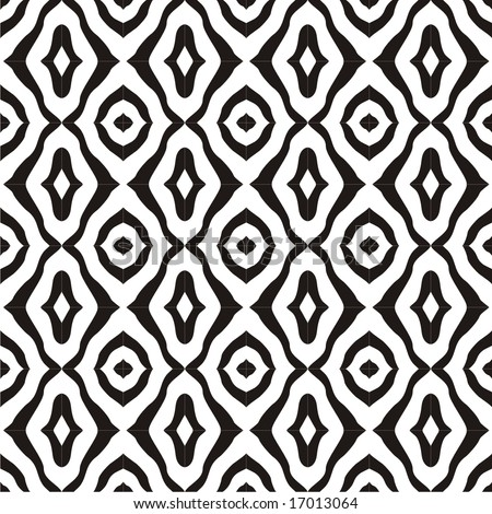 seamless black and white pattern - stock vector