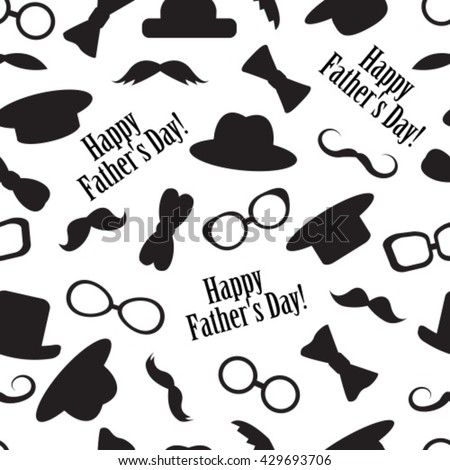 Seamless black-and-white pattern to the father's day