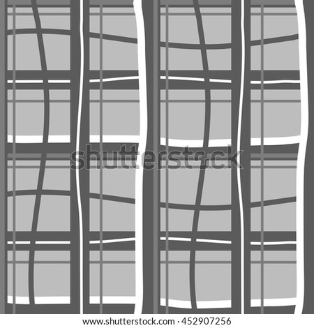 Seamless black and white  pattern with stripes. Vector background