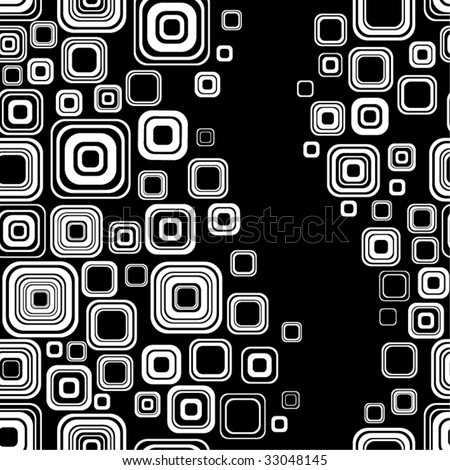 Seamless black-and-white retro pattern - stock vector