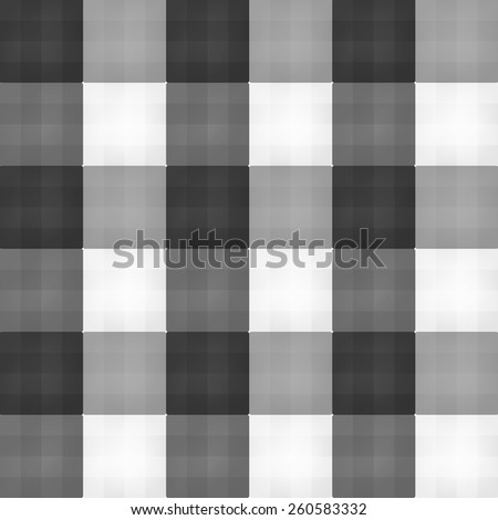 Seamless black plaid pattern vector.