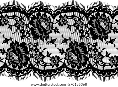 seamless black vector lace pattern stock vector 570155368 shutterstock rh shutterstock com vector lace pattern free vector lace pattern free download