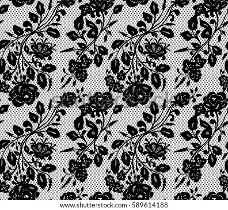 seamless black vector lace pattern stock vector 2018 589614188 rh shutterstock com vector lace pattern background vector lace pattern free