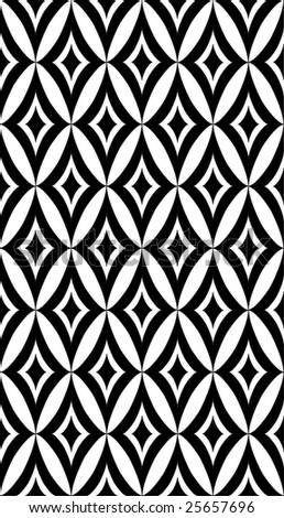 Seamless black wallpaper - stock vector