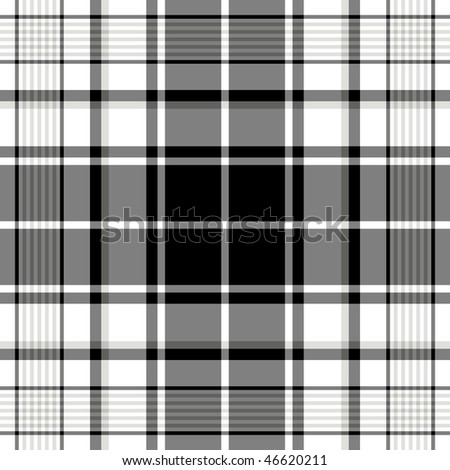 Seamless black-white and grey pattern (vector, EPS 10) - stock vector