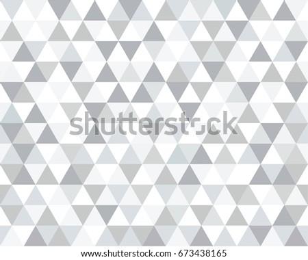 Seamless Black White Grey Triangle Pattern 673438165