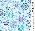 Seamless blue and violet and white christmas wallpaper (vector) - stock vector