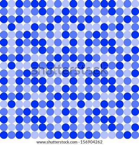 Seamless Blue Dot Pattern - stock vector