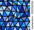 Seamless blue geometric pattern. - stock vector