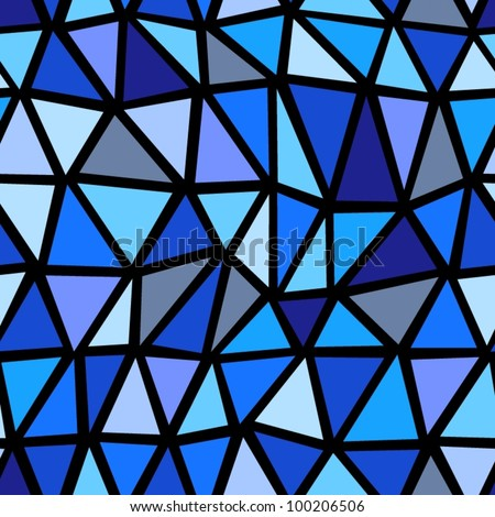 Seamless blue geometric pattern. - stock vector