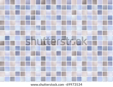 Seamless blue square tiles pattern - stock vector