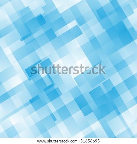 Seamless Blue Tile Pattern - stock vector
