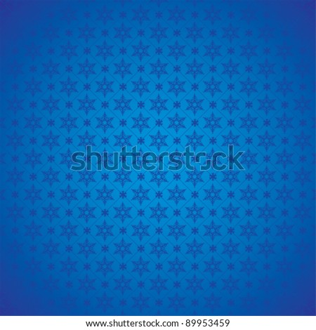 Seamless blue winter pattern - stock vector