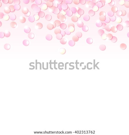 Seamless border pink realistic confetti design stock vector seamless border of pink realistic confetti design template for gift certificate voucher yadclub Choice Image