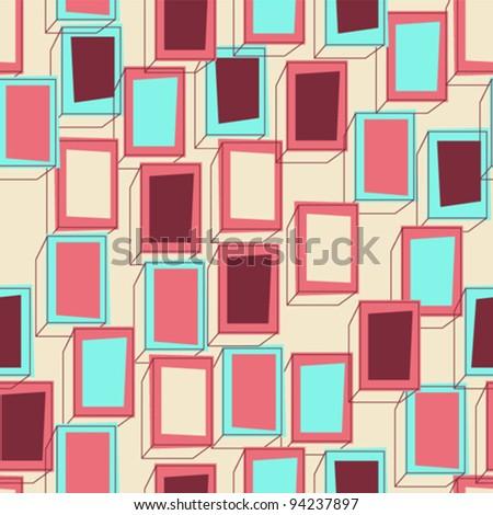 Seamless box pattern - stock vector