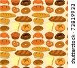 seamless bread pattern - stock vector