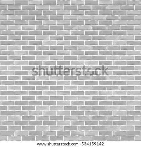 Seamless brick wall background, white brick wall, vector eps10 illustration