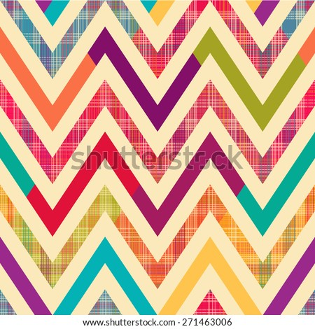 Seamless bright chevron pattern background