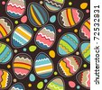 Seamless bright spring pattern with easter eggs - stock vector