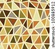 Seamless brown geometric pattern. - stock vector