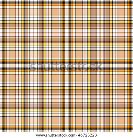 Seamless brown scottish pattern (vector, EPS 10)