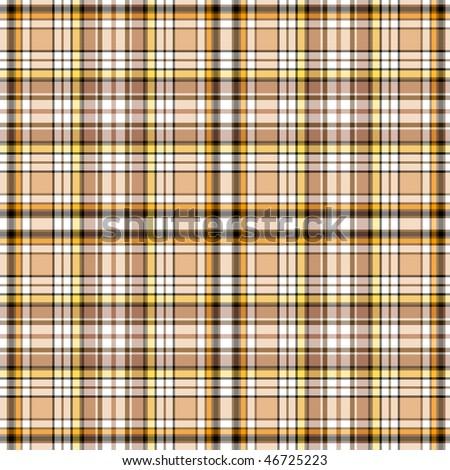 Seamless brown scottish pattern (vector, EPS 10) - stock vector