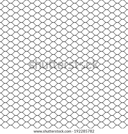 Seamless Cage. Grill. Mesh. Octagon Background. Vector - stock vector