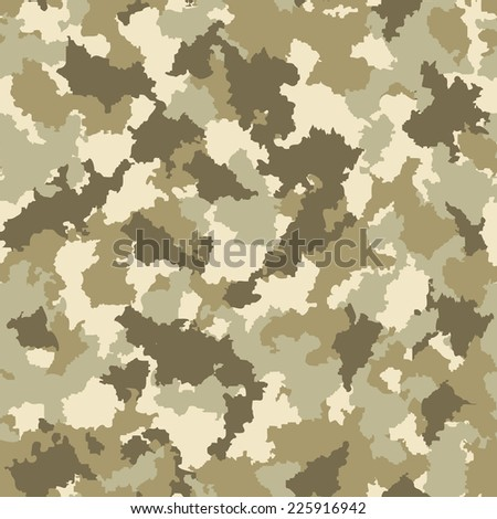 Seamless camouflage pattern - stock vector