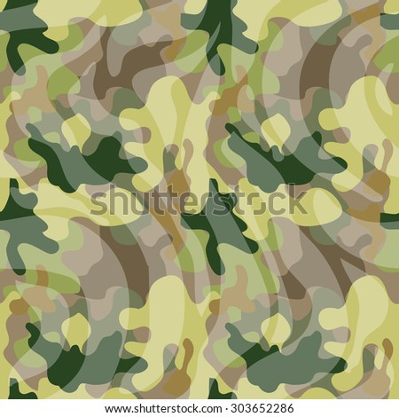 Seamless camouflage pattern. Forest shadow palette. Military textile collection. Abstract vector background. Light green, dark green, khaki, grey, transparent stripes. Backgrounds & textures shop. - stock vector
