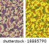 Seamless Camouflage Vectors - 2 versions - stock photo