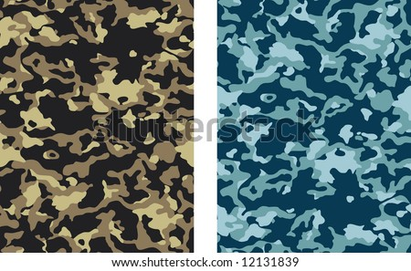 Seamless Camouflage Vectors - 2 versions