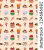 seamless candy pattern,cartoon vector illustration - stock vector