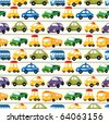 seamless car pattern - stock photo