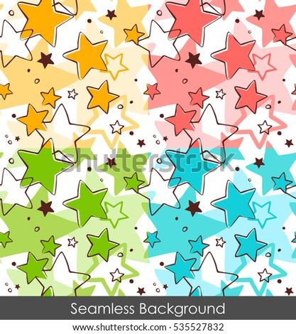 Seamless cartoon star pattern background