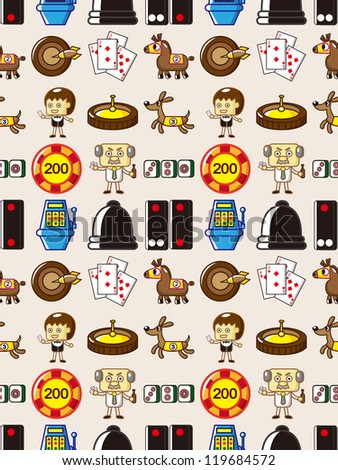 seamless Casino pattern - stock vector