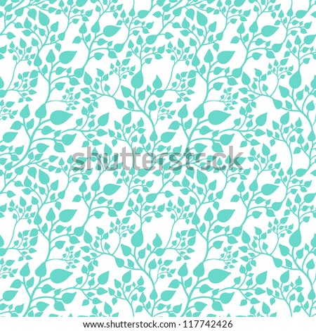 Seamless casual pattern with leaves - stock vector