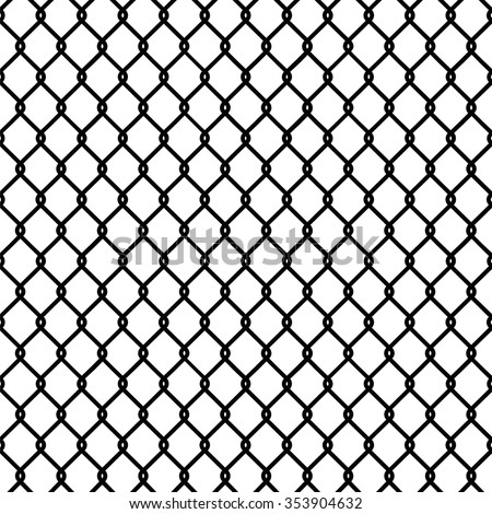 Seamless chain link fence pattern texture wallpaper - stock vector