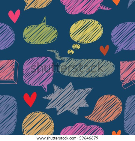 seamless chat pattern - stock vector