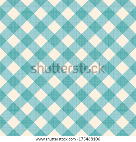 Seamless checked background. Eps 10 vector illustration - stock vector