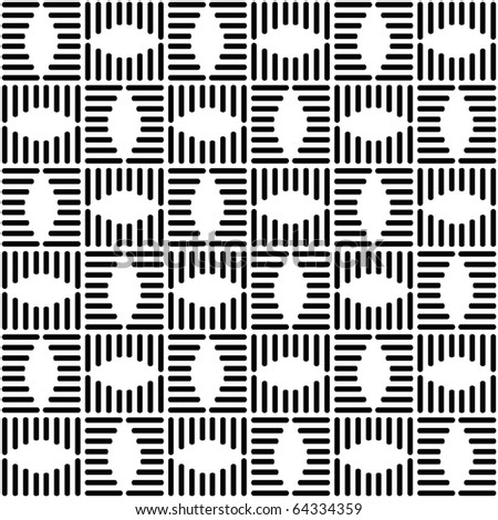 Seamless checked design. Geometric black-and-white pattern. Vector art. - stock vector