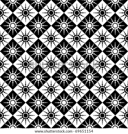 Seamless checked pattern with dots design. Vector illustration. - stock vector