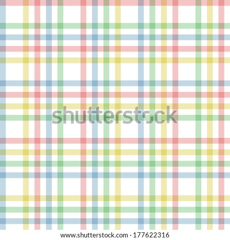 Seamless checkered line pattern. Four colors - stock vector